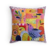 Indigo Bird Throw Pillow