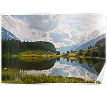Golzern reflected in the lake, Canton Uri, Switzerland Poster