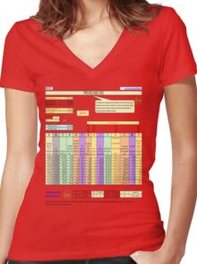Business smart Women's Fitted V-Neck T-Shirt