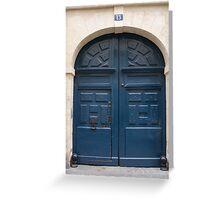 Paris Blue Door Greeting Card
