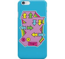 Konami Code 80's Retro  iPhone Case/Skin