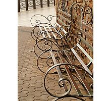 Curly benches Photographic Print