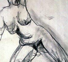 Nude Sketch by Marsha Hallet