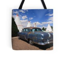 Route 66 Wigwam Motel and Classic Car Tote Bag