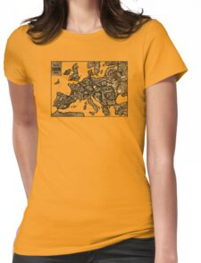 Satyrische Europa Karte Womens Fitted T-Shirt