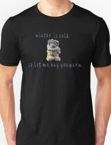 Puppy In A Shawl: Winter Is Cold T-Shirt