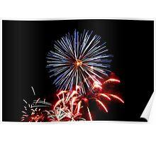 Red, White & Blue Fireworks! Poster