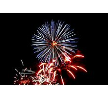 Red, White & Blue Fireworks! Photographic Print