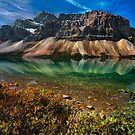 Bow Lake Reflections by Thomas Dawson