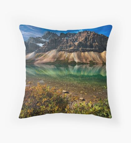 Bow Lake Reflections Throw Pillow