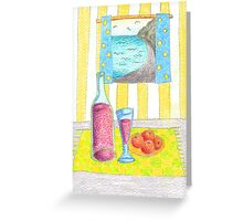 Red Wine and Oranges Greeting Card