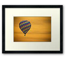 Hot Air Balloon Golden Flight Framed Print