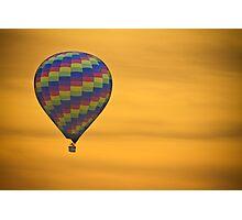 Hot Air Balloon Golden Flight Photographic Print