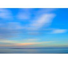 Sun set Blue Photographic Print