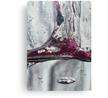 Water drops abstract 2 Canvas Print