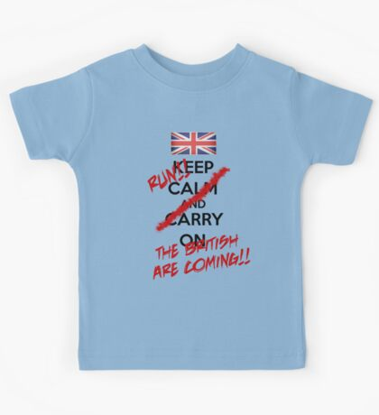 The British Are Coming! (black text) Kids Tee