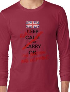 The British Are Coming! (black text) Long Sleeve T-Shirt
