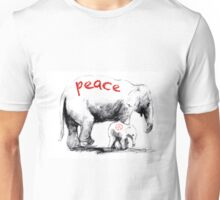Peace Elephant Mum and Babe Unisex T-Shirt