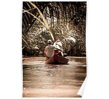 Mekong Delta narrow boat Poster