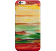 Strata Series, Lines Blending in Red iPhone Case/Skin