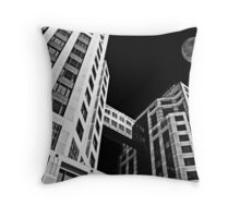 Moon Over Twin Towers #2 Throw Pillow