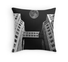 Moon Over Twin Towers #1 Throw Pillow