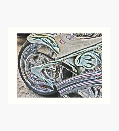 Chopper Belt Drive Detail Art Print