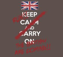 The British Are Coming! (white text) Kids Clothes