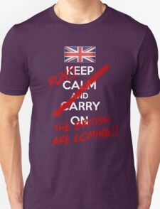 The British Are Coming! (white text) Unisex T-Shirt