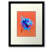 Psychedelic Bubble Earth Splash Watercolor Pepe Psyche Framed Print