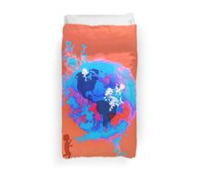 Psychedelic Bubble Earth Splash Watercolor Pepe Psyche Duvet Cover