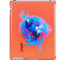 Psychedelic Bubble Earth Splash Watercolor Pepe Psyche iPad Case/Skin