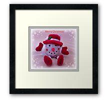 Little Snowman Framed Print