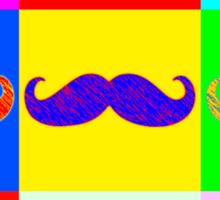 Mustache by Warhol Sticker