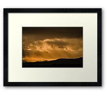 November Skies Framed Print