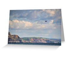 Helicopter Leaving Lyme  Greeting Card