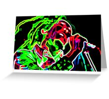 Psychedelic Mr Marley Greeting Card