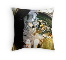 Relaxing in a rock pool  Throw Pillow