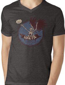 Long Pig Is People Mens V-Neck T-Shirt