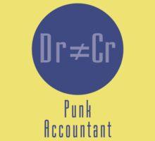 Punk Accountant T-Shirt Gift - Accounting Rebel! Kids Tee