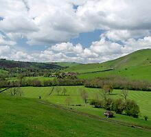 Across the Valley, Thorpe to Ilam  by Rod Johnson