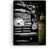 HDR Vintage Black Chevy Canvas Print