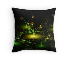 Cellophane Flowers Throw Pillow