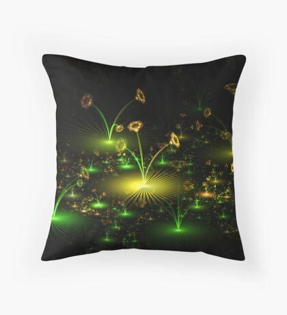 Cellophane Flowers Throw Pillow