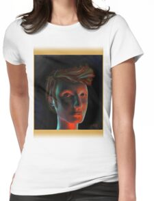David Tennant In TARDIS Colour Womens Fitted T-Shirt