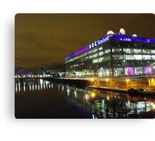 Glasgow at night, BBC Building Canvas Print