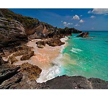 Bermuda Beach Near Horseshoe Bay Photographic Print