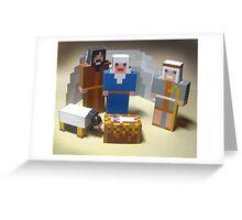 Paper kit of nativity scene assembled Greeting Card