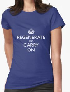 Regenerate and Carry On Womens Fitted T-Shirt