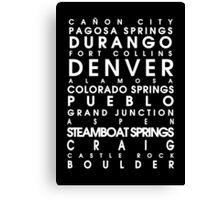Colorado City Roll Canvas Print